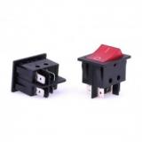 клавишный выключатель с подсветкой 24x24мм 16А 250V